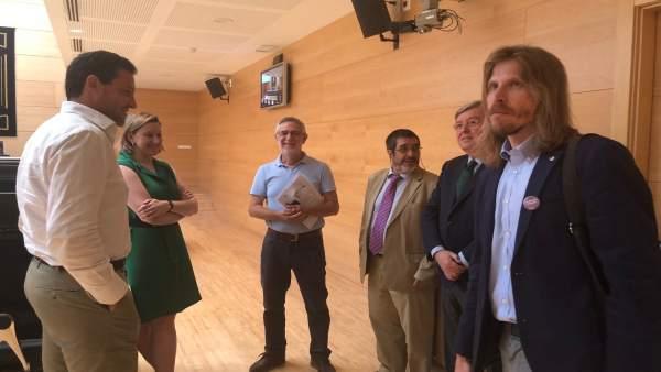 Valladolid. Agustín Prieto comparece en las Cortes