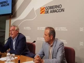 El consejero Olona y el jefe de servicio Ramón Giménez