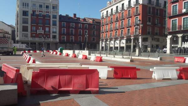 Recorrido provisional de salida del parking de la Plaza Mayor