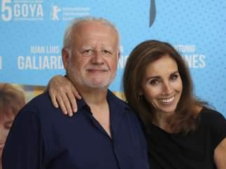 Ana Belén y Juan Echanove en la presentación del reestreno de 'El vuelo de la paloma'.