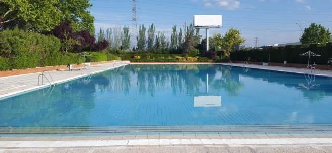 Una piscina en Getafec