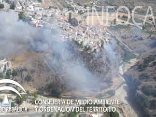 Incendio en Iznalloz