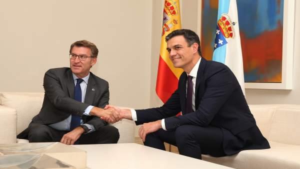 Reunión de Pedro Sánchez y Alberto Núñez Feijóo