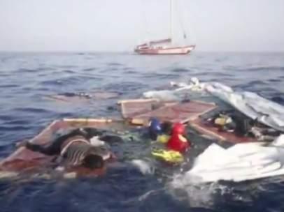 Inmigrantes muertos en el Mediterráneo