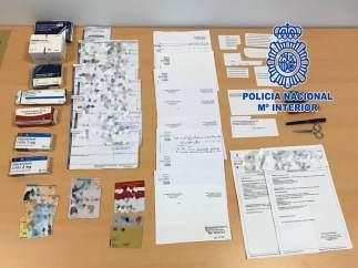 La Policía Nacional detiene a un falsificador de recetas médicas