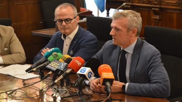 Alfonso Rueda en rueda de prensa en Ourense