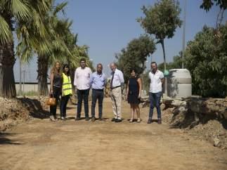 Visita de la Diputación de Sevilla a La Algaba
