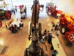 Escolares visitando las instalaciones del Museo Aquagraria de Ejea