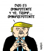 Trump omniprepotente. Viñeta de Malagón