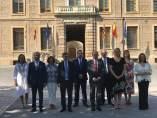 Javier Lambán, este jueves junto a todos los consejeros del Gobierno de Aragón