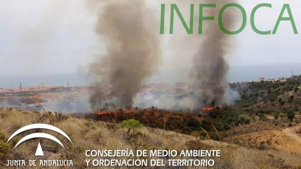 Incendio El Higuerón Fuengirola