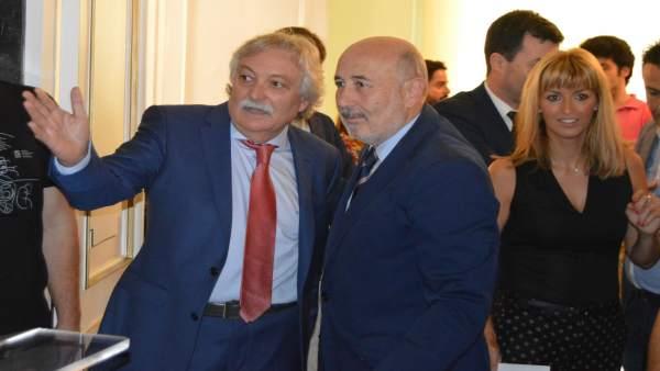 El subdelegado del Gobierno en Ourense, Emilio González Afonso, y Javier Losada