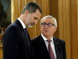 Felipe VI y Jean-Claude Juncker