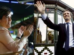 Santamaría y Casado acaban sus campañas convencidos de ganar y haciendo sitio al otro