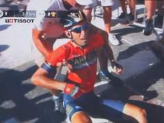 Caída de Vincenzo Nibali en el Tour