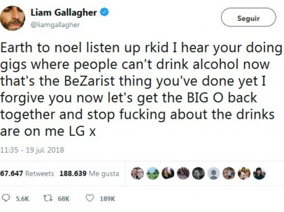 Tuit Liam Gallagher