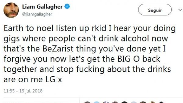 Tuit Liam Gallagher