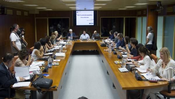 Comparencia de Jon Darpón en la Comisión de Salud del Parlamento