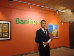 El director general de Bantierra, Luis Ignacio Lucas, hoy en rueda de prensa