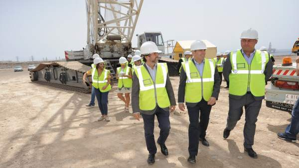 Construcción de los parques eólicos