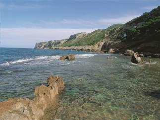 Una de las playas de Denia