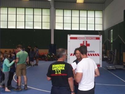 Evacúan por la lluvia a 345 personas que estaban de campamento en Cantabria