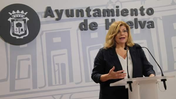 Berta Centeno, concejal del PP en el Ayuntamiento de Huelva.