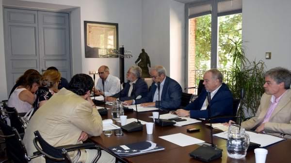 Miguel Gracia ha asistido hoy a la reunión en la FEMP, en Madrid
