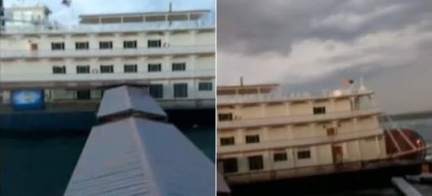 Barco hundido en Misuri