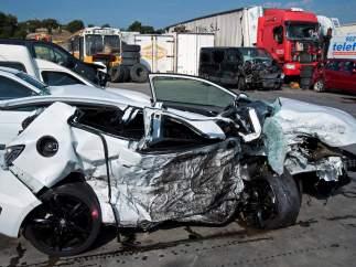 Accidente en Vidreres