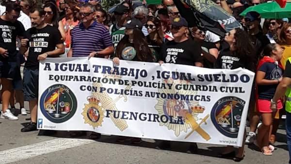 Protesta convocada por Jusapol