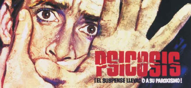 Cartel de la película Psicosis.