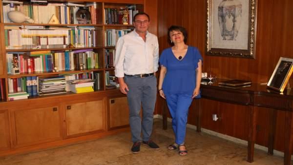 Reunión de la subdelegada del Gobierno en Córdoba con el alcalde de Villafranca