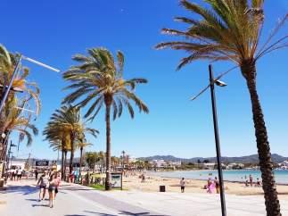 Sant Antoni de Portmany, recurso, Ibiza, playa, paseo, turismo, turistas.