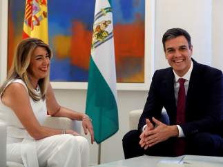 Sánchez y Díaz, en Moncloa