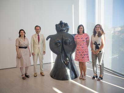 Presentación de la cesión de esculturas al Centro Botín y a Santander