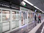 Andén de la L9 del Metro de Barcelona.