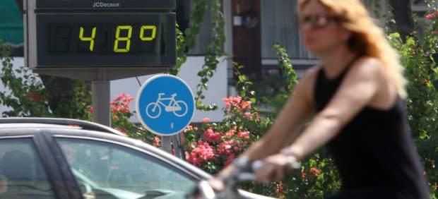 Termómetro en Sevilla que refleja las altas temperaturas durante la ola de calor