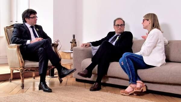 Carles Puigdemont, Quim Torra, Elsa Artadi, JxCat.