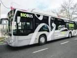 Autobús propulsado por gas renovable