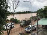 Rotura de una presa en Laos