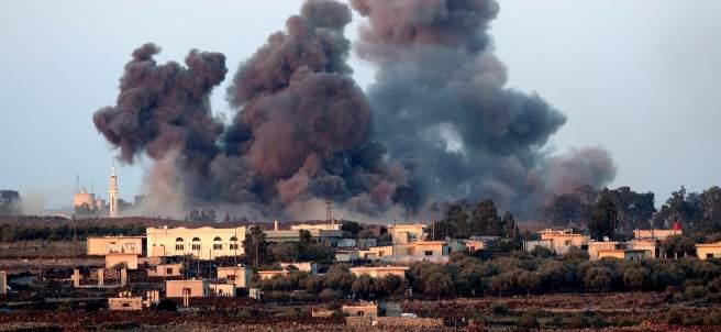 Bombardeo en los Altos del Golán