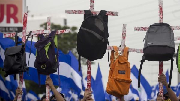 Marcha en Nicaragua en apoyo a estudiantes y de rechazo a Ortega