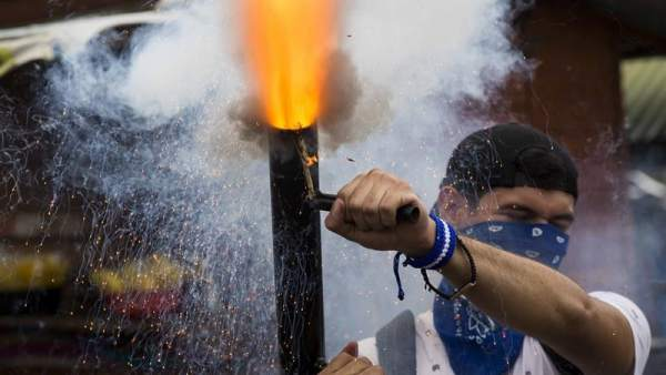 Manifestación contra Ortega en Nicaragua
