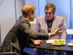 Elton John y el príncipe Harry