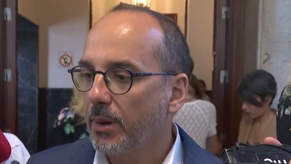 Carles Campuzano en el Congreso de los Diputados.