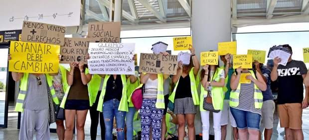Empleados de Ryanair.