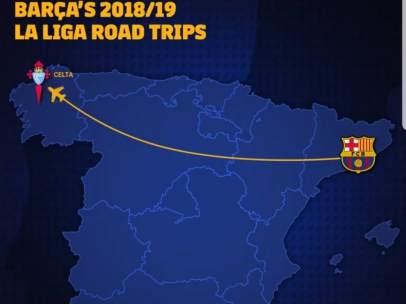 Troleo del Celta al Barça