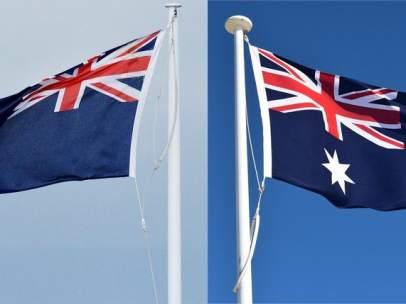 Banderas de Nueva Zelanda y Australia