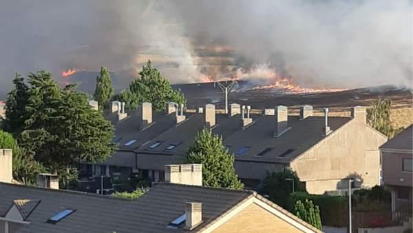 Incendio cerca de Zizur.